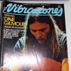 Coleccionismo Papel Varios: REVISTA VIBRACIONES N48 DAVE GILMOUR ESVIS COSTELLO ROCK ROCKANDROLL. Lote 111410939
