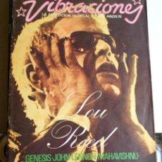 Coleccionismo Papel Varios: REVISTA VIBRACIONES N6 LOU REED ROCK ROCKANDROLL. Lote 111411483