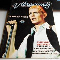 Coleccionismo Papel Varios: REVISTA VIBRACIONES N21 BOWIE EN VIVO! ROCK ROCKANDROLL. Lote 111411711