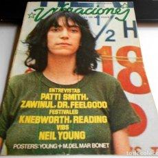 Coleccionismo Papel Varios: REVISTA VIBRACIONES N25 PATTI SMITH NEL YOUNG ROCK ROCKANDROLL. Lote 111414375