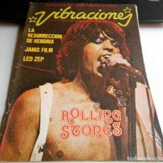 Coleccionismo Papel Varios: REVISTA VIBRACIONES N10 LED ZEP ROLLING STONES ROCK ROCKANDROLL. Lote 111414455