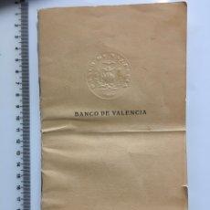 Coleccionismo Papel Varios: BANCO DE VALENCIA. LIBRETA CAJA DE AHORROS. SUCURSAL DE LIRIA. AÑO 1931. Lote 112431712