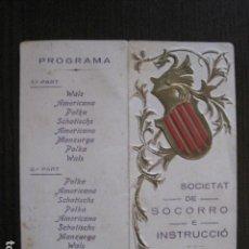 Coleccionismo Papel Varios: PONT D´ARMENTERA - PROGRAMA BALL FESTA MAJOR ANY 1922-SOCIETAT SOCORRO -VER FOTOS - (V-13.447). Lote 112560895