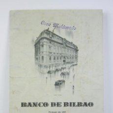Coleccionismo Papel Varios: FOLLETO PUBLICITARIO DESPLEGABLE - BANCO DE BILBAO, AÑO 1948 - MEDIDAS 11 X 16,5. Lote 112603903