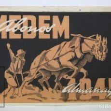 Coleccionismo Papel Varios: ANTIGUO RECORTE PUBLICITARIO - ABONOS MEDEM. ALMANAQUE 1945 - MEDIDAS 27 X 17,5 CM. Lote 112604715