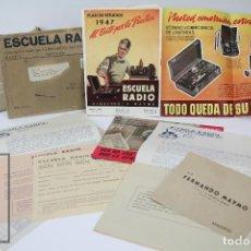 Coleccionismo Papel Varios: CONJUNTO DE FOLLETOS Y DOCUMENTOS - ESCUELA RADIO FERNANDO MAYMÓ GOMIS - AÑOS 40-50. Lote 112606391