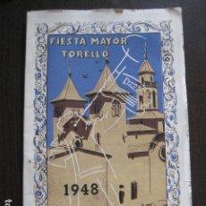 Coleccionismo Papel Varios: TORELLO - FIESTA MAYOR 1948 - PROGRAMA DE FIESTAS - PUBLICIDAD -VER FOTOS-(V-13.488). Lote 113088547