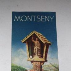 Coleccionismo Papel Varios: TRIPTICO PUBLICITARIO. MONTSENY. HOTEL SAN BERNAT. AÑOS 60 BARCELONA. IMP.: CUSCÓ. Lote 113180043