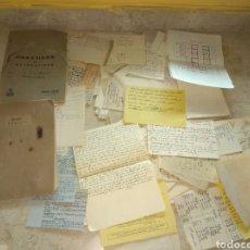 Coleccionismo Papel Varios: LOTE DE APUNTES ESCOLARES, CHULETAS Y LIBRETAS AÑOS 40-50. Lote 27604949