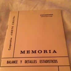 Coleccionismo Papel Varios: 1966-7 MEMORIA DE CAPARROSO C.SANTO CRISTO. Lote 113619204