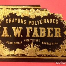 Coleccionismo Papel Varios: ANTIGUA ETIQUETA CRAYONS POLYCRADES A.W. FABER. Lote 113662471