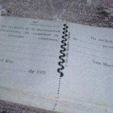 Coleccionismo Papel Varios: VIEJO TALONARIO,HERMANDAD DE LABRADORES, DE LOS AÑOS 50. Lote 113928707