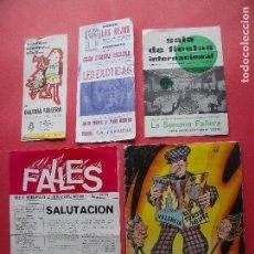 Coleccionismo Papel Varios: FALLAS.-EL TURISMO FALLERO.-AÑO 1068.-FALLES.-AÑO 1972.-LA SEMANA FALLERA.-NINOTS.-VALENCIA.. Lote 114069071