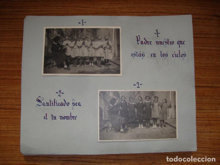 (TC-114) LOTE FOTOGRAFIAS ESCOLARES AÑOS 40 REZANDO EL PADRE NUESTRO FOTOS Y TEXTO (Coleccionismo en Papel - Varios)