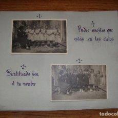 Coleccionismo Papel Varios: (TC-114) LOTE FOTOGRAFIAS ESCOLARES AÑOS 40 REZANDO EL PADRE NUESTRO FOTOS Y TEXTO . Lote 114094895