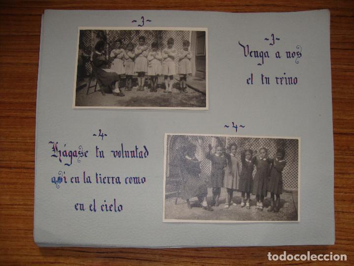 Coleccionismo Papel Varios: (TC-114) LOTE FOTOGRAFIAS ESCOLARES AÑOS 40 REZANDO EL PADRE NUESTRO FOTOS Y TEXTO - Foto 2 - 114094895