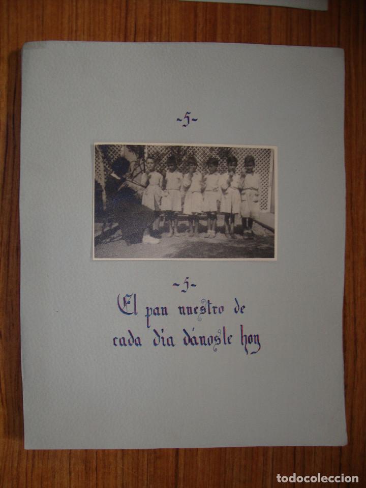 Coleccionismo Papel Varios: (TC-114) LOTE FOTOGRAFIAS ESCOLARES AÑOS 40 REZANDO EL PADRE NUESTRO FOTOS Y TEXTO - Foto 3 - 114094895