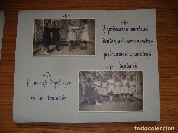 Coleccionismo Papel Varios: (TC-114) LOTE FOTOGRAFIAS ESCOLARES AÑOS 40 REZANDO EL PADRE NUESTRO FOTOS Y TEXTO - Foto 4 - 114094895