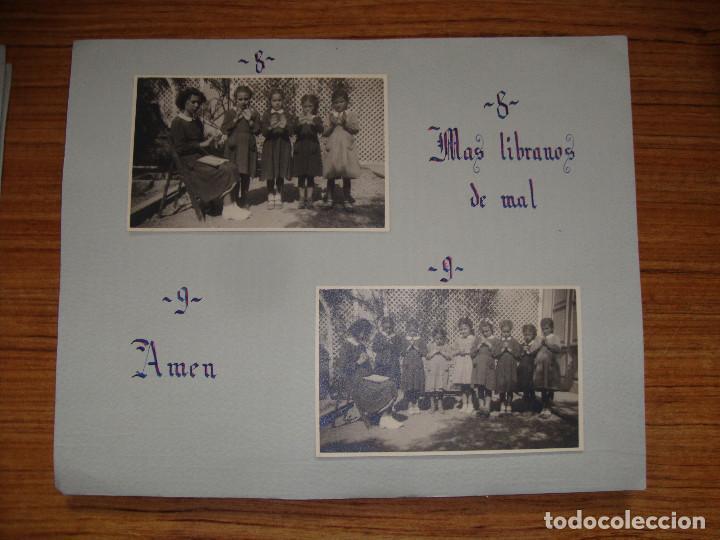 Coleccionismo Papel Varios: (TC-114) LOTE FOTOGRAFIAS ESCOLARES AÑOS 40 REZANDO EL PADRE NUESTRO FOTOS Y TEXTO - Foto 5 - 114094895