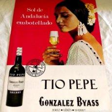 Coleccionismo Papel Varios: TÍO PEPE, GONZÁLEZ BYAS - ANTIGUA PUBLICIDAD EXTRAÍDA DE REVISTA - 1969 / 31X22CM. Lote 114106443