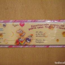 Coleccionismo Papel Varios: TALONARIO DE INVITACIÓN A FIESTA INFANTIL - MONAR. Lote 114196863