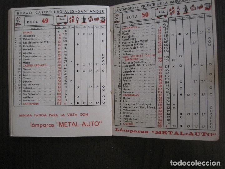 Coleccionismo Papel Varios: GUIA DE CARRETERAS - PUBLICIDAD METAL AUTO -VER FOTOS-(V-13.711) - Foto 9 - 114213539
