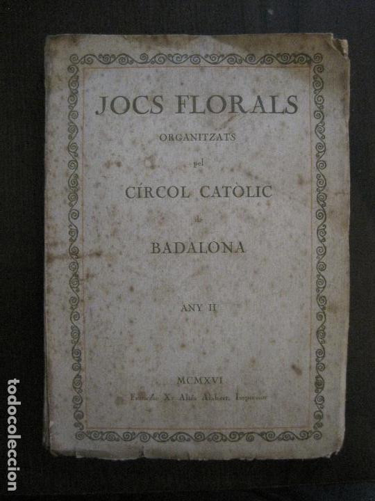 BADALONA - JOCS FLORALS ANY 1916 - CIRCOL CATOLIC -VER FOTOS-(V-13.714) (Coleccionismo en Papel - Varios)