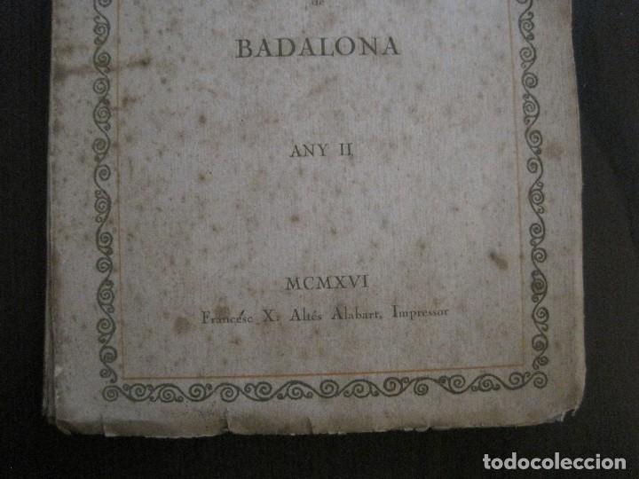 Coleccionismo Papel Varios: BADALONA - JOCS FLORALS ANY 1916 - CIRCOL CATOLIC -VER FOTOS-(V-13.714) - Foto 2 - 114214415
