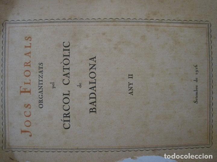 Coleccionismo Papel Varios: BADALONA - JOCS FLORALS ANY 1916 - CIRCOL CATOLIC -VER FOTOS-(V-13.714) - Foto 4 - 114214415