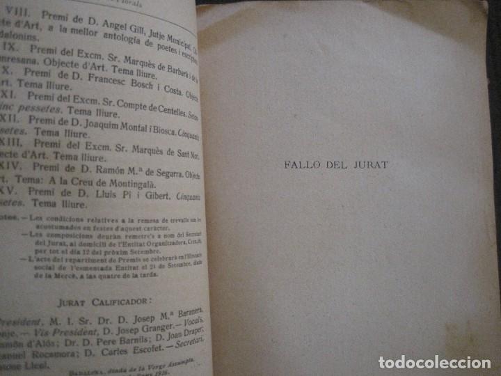 Coleccionismo Papel Varios: BADALONA - JOCS FLORALS ANY 1916 - CIRCOL CATOLIC -VER FOTOS-(V-13.714) - Foto 5 - 114214415