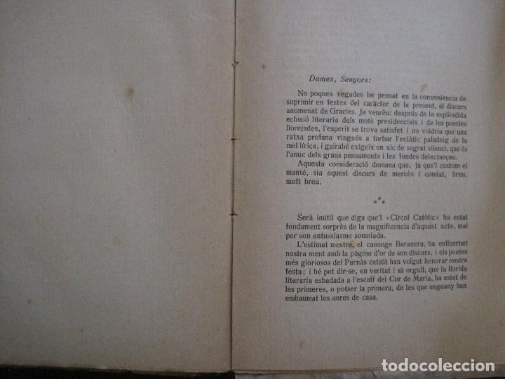 Coleccionismo Papel Varios: BADALONA - JOCS FLORALS ANY 1916 - CIRCOL CATOLIC -VER FOTOS-(V-13.714) - Foto 13 - 114214415