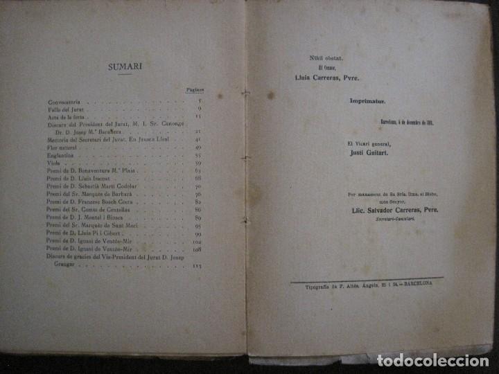 Coleccionismo Papel Varios: BADALONA - JOCS FLORALS ANY 1916 - CIRCOL CATOLIC -VER FOTOS-(V-13.714) - Foto 14 - 114214415
