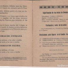 Coleccionismo Papel Varios: LIBRO CALIFICACIÓN ESCOLAR ESCUELAS SALESIANAS EXTERNAS DE SAN DIEGO . UTRERA ( SEVILLA ). Lote 114260007