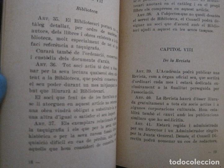 Coleccionismo Papel Varios: BARCELONA- ESTATUTS ACADEMIA DE TAQUIGRAFIA - ANY 1933 -VER FOTOS-(V-13.717) - Foto 4 - 114275587