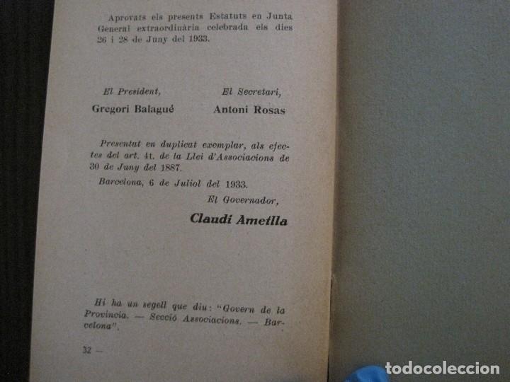 Coleccionismo Papel Varios: BARCELONA- ESTATUTS ACADEMIA DE TAQUIGRAFIA - ANY 1933 -VER FOTOS-(V-13.717) - Foto 5 - 114275587