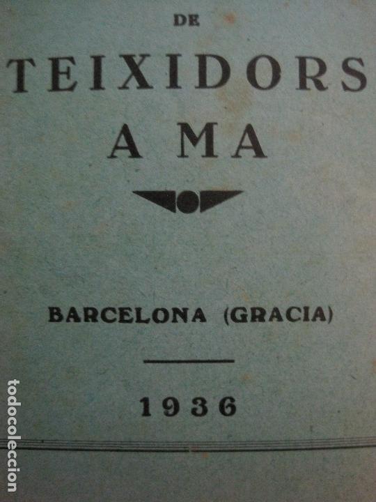Coleccionismo Papel Varios: BARCELONA- ESTATUTS DE LA SOCIETAT COOPERATIVA OBRERA TEIXIDORS A MA -ANY 1936 -VER FOTOS-(V-13.719) - Foto 2 - 114276383