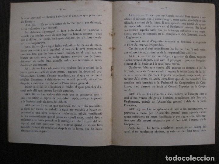 Coleccionismo Papel Varios: BARCELONA- ESTATUTS DE LA SOCIETAT COOPERATIVA OBRERA TEIXIDORS A MA -ANY 1936 -VER FOTOS-(V-13.719) - Foto 4 - 114276383
