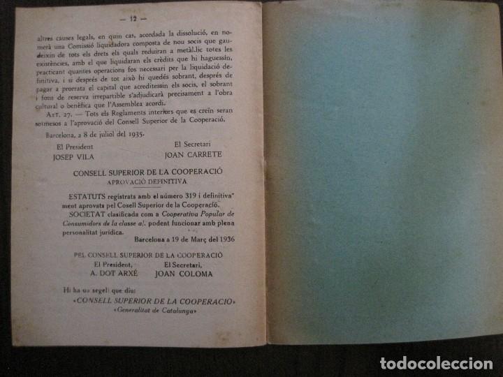 Coleccionismo Papel Varios: BARCELONA- ESTATUTS DE LA SOCIETAT COOPERATIVA OBRERA TEIXIDORS A MA -ANY 1936 -VER FOTOS-(V-13.719) - Foto 6 - 114276383