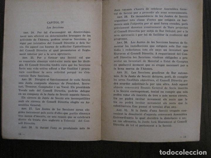 Coleccionismo Papel Varios: BARCELONA- ESTATUTS DE LATENEU ENCICLOPEDIC POPULAR - ANY 1934 -VER FOTOS-(V-13.720) - Foto 5 - 114276679