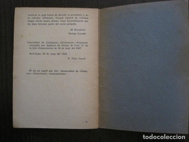 Coleccionismo Papel Varios: BARCELONA- ESTATUTS DE LATENEU ENCICLOPEDIC POPULAR - ANY 1934 -VER FOTOS-(V-13.720) - Foto 6 - 114276679