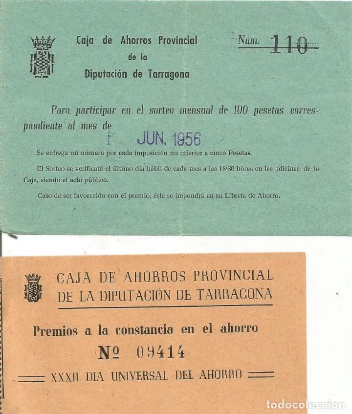 CAJA DE AHORROS PROVINCIAL DE LA DIPUTACION DE TARRAGONA 1958 (Coleccionismo en Papel - Varios)