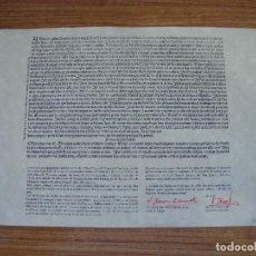 Coleccionismo Papel Varios: (ALB-TC-18) COPIA ORIGINAL Y NUMERADA DE LA BUTLLA QUE SE CONSERVA CATEDRAL LLEIDA LEER MAS. Lote 114408003