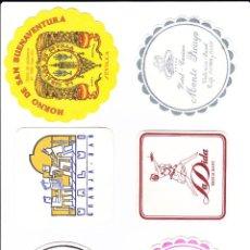 Coleccionismo Papel Varios: LOTE DE SEIS POSAVASOS VARIADOS. Lote 114598811