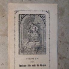 Coleccionismo Papel Varios: NIÑO JESÚS DEL MILAGRO ALCOY.. Lote 114635791