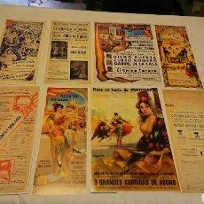 Coleccionismo Papel Varios: GRAN LOTE 8 LAMINAS CARTELES TAURINOS DE LA PLAZA DE TOROS DE PONTEVEDRA. Lote 114744971