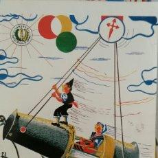 Coleccionismo Papel Varios: ÁLBUM PORTFOLIO DE FIESTAS SANTIAGO APÓSTOL SAMA DE LANGREO 1989. Lote 114750195