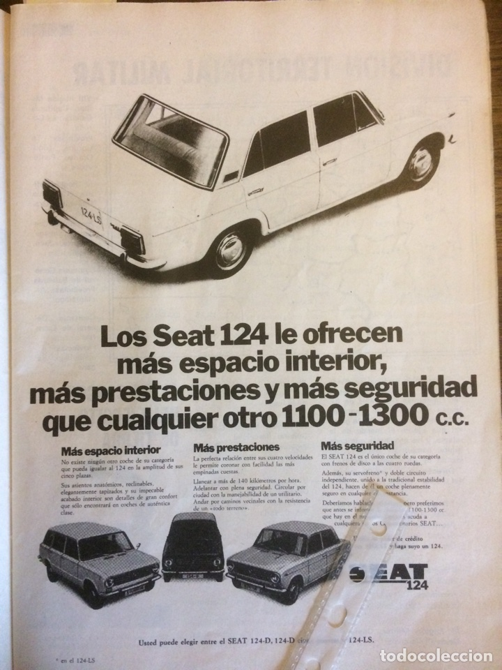 PUBLICIDAD AUTOMÓVIL SEAT 124 DE 1973 (Coleccionismo en Papel - Varios)