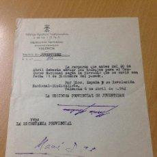 Coleccionismo Papel Varios: FALANGE ESPAÑOLA DE LAS JONS SECCION FEMENINA ADOR VALENCIA ?. Lote 114915571