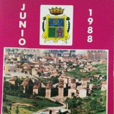 Coleccionismo Papel Varios: ÁLBUM PORTFOLIO FIESTAS DE LA REGUERA LANGREO 1988. Lote 114990452