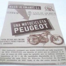 Coleccionismo Papel Varios: RECORTE PUBLICIDAD AÑOS 50 - MOTOCICLETA PEUGEOT. Lote 115277943